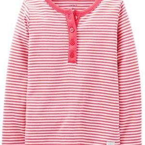 Carters Striped Henley Girls Size 6 Months